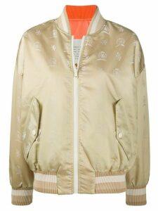 Hilfiger Collection reversible logo crest print bomber jacket -