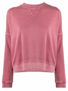 YMC relaxed-fit cotton sweatshirt - PINK