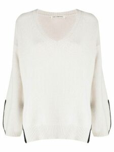 Lis Lareida V-neck jumper - NEUTRALS