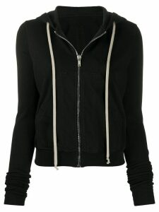 Rick Owens DRKSHDW zip-up cotton hoodie - Black
