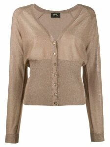 LIU JO V-neck button down cardigan - NEUTRALS