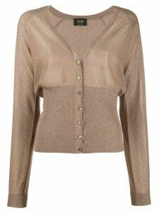 LIU JO V-neck button down cardigan - NEUTRALS