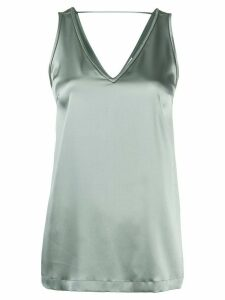 Brunello Cucinelli v-neck sleeveless top - Grey