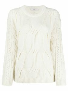 Pringle of Scotland cable stitch jumper - White