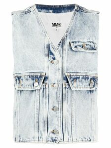 Mm6 Maison Margiela denim gilet - Black