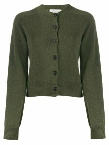 YMC ribbed slim-fit cardigan - Green