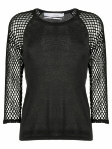 IRO mesh panel top - Black