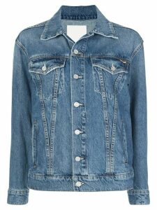 Mother buttoned-sleeves denim jacket - Blue