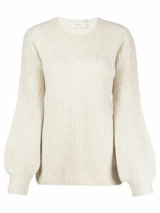 Pringle of Scotland diamond ribbed jumper - NEUTRALS