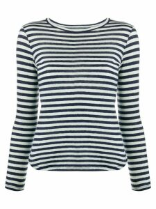 YMC striped long-sleeved T-shirt - Blue