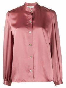 Vince mandarin collar silk shirt - PINK