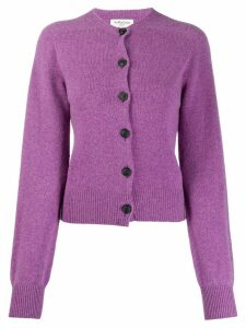 YMC ribbed slim-fit cardigan - PURPLE