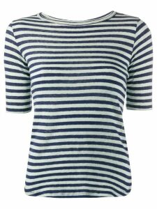 YMC striped fitted T-shirt - Blue