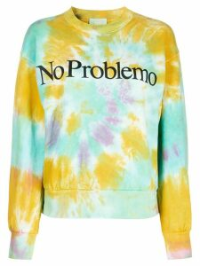 Aries tie-dye slogan sweatshirt - Green