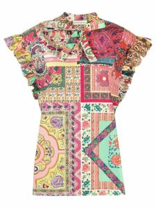 Etro patchwork print blouse - PINK