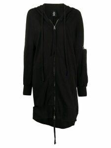 Thom Krom distressed longline hoodie - Black