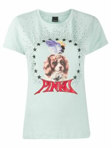 Pinko dog print T-shirt - Green