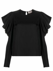Alexandre Vauthier draped sleeve top - Black