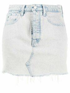 T By Alexander Wang faded denim shorts - Blue