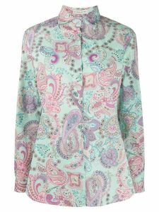 Etro all-over Paisley print shirt - Blue