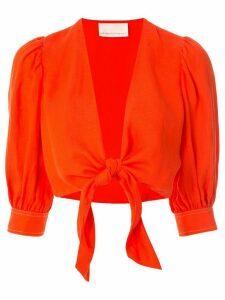 Ginger & Smart Memoir cropped blouse - Red