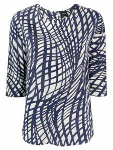 Aspesi graphic print blouse - Blue