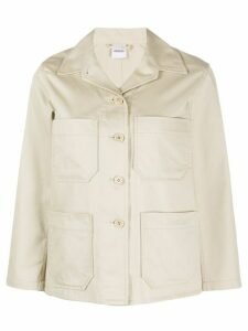 Aspesi lightweight cotton shirt jacket - NEUTRALS