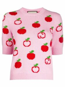 Gucci GG apple knitted top - PINK