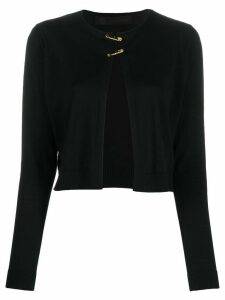 Versace short safety-pin cardigan - Black