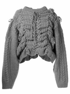 Y/Project distressed chunky-knit jumper - Grey