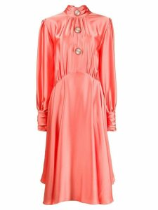 Christopher Kane slinky satin dress - PINK