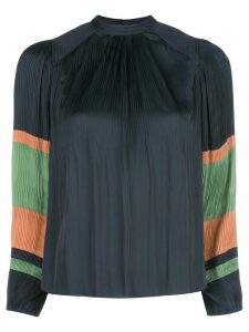 Ulla Johnson Rosa colour block plissé top - Blue