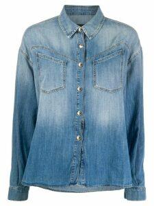 Pinko oversized denim shirt - Blue