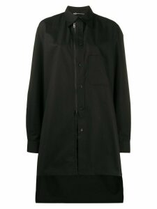 Y-3 oversized embroidered logo shirt - Black