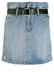 LIU JO high-waisted belted skirt - Blue