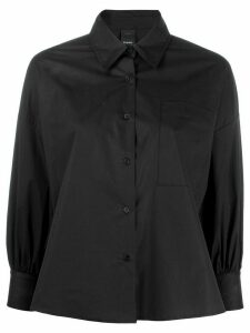 Pinko boxy bishop sleeve shirt - Black
