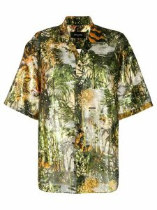 Dsquared2 printed bowling shirt - Green