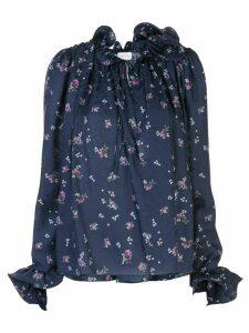 Magda Butrym Key West floral-print blouse - Blue