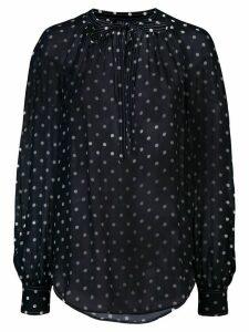 Polo Ralph Lauren polka dot print blouse - Blue