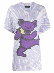 AMIRI tie-dye graphic print T-shirt - PURPLE