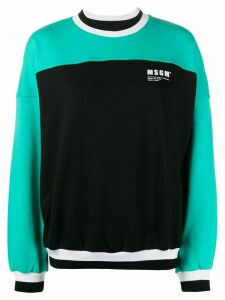 MSGM colour-block cotton sweatshirt - Black