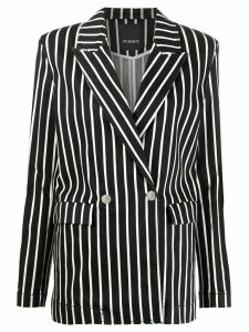 Pinko striped fitted jacket - Blue