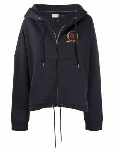 Hilfiger Collection crest logo zipped hoodie - Blue