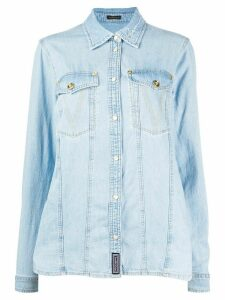 Versace GV signature denim shirt - Blue