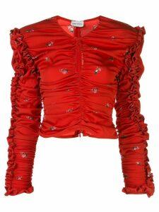 Magda Butrym Konya floral-print blouse - Red