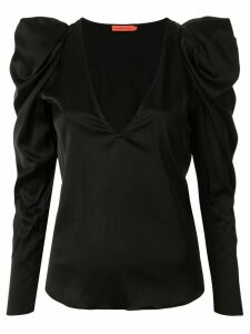Manning Cartell puff-sleeves satin blouse - Black