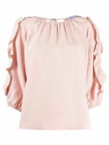 RedValentino ruffled blouse - PINK