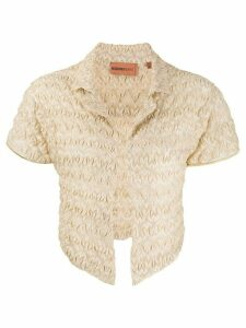 Missoni Mare knitted crinkle cardigan - GOLD