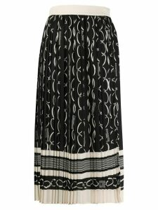 Elisabetta Franchi pleated midi skirt - Black