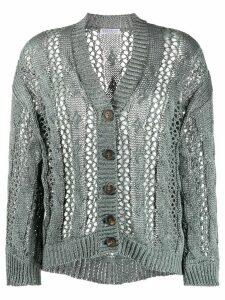 Brunello Cucinelli slouchy open knit cardigan - Grey